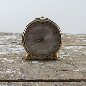 Junghans Alarm Clock Rocket Clock Brass Clock Tiny  Clock West Germany