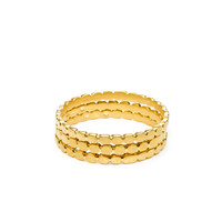 circle gold dipped multi circle rings, set of 3 - size 7 - Dogeared