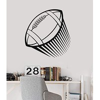 Vinyl Wall Decal Football Sport Flying Ball Teen Room Stickers Mural Unique Gift (ig218)