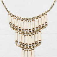 AEO Women's Beaded Statement Necklace (Mixed Metal)