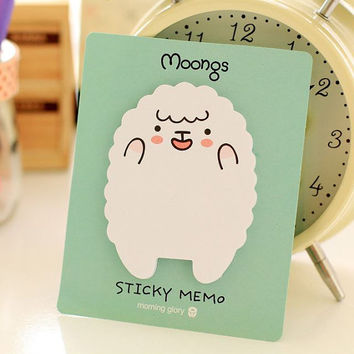 Memo Pads | Sticky Notes  Labels | Bookmark Korean Stationary Paper | School Office Supplies  | Happy Sheep Cute Post-It M25