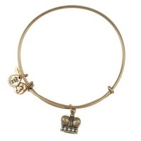 Alex and Ani King's Crown Charm Bangle - Rafaelian Gold Finish