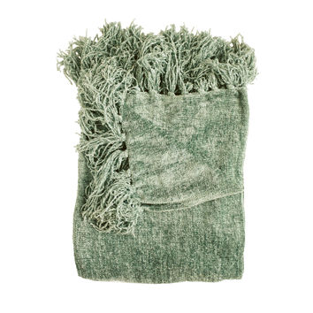 Susan Basil Chenille Throw