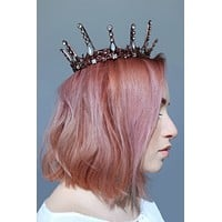 Aggressively Rosy Crown Tiara in Rose Gold and Opal