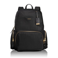 Black Nylon and Gold Accent Backpack by Tumi