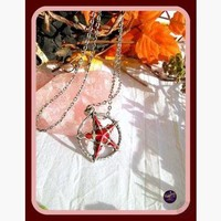Crimson Pentagram Necklace