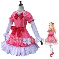 Japanese New Anime Sensei Cosplay Costume Manga Yamada Elf Straps bow Dresses Cosplay Costume