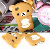Brown Rilakkuma Bear iPhone 4 / 4S Case from Starlight Bakery
