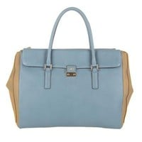 Light Blue Butter Leather Etta Top Handle Butter Leather Top Handle Bags Anya Hindmarch Handbags