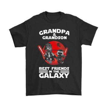 KUYOU Grandpa And Grandson Best Friends In The Galaxy Shirts