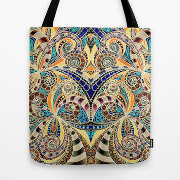 Drawing floral abstract background B9 Tote Bag by MedusArt
