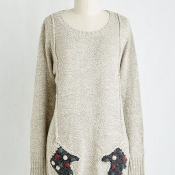 Quirky Long Long Sleeve Mitten Accomplished Sweater
