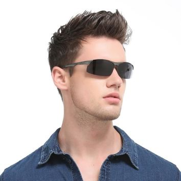 Brand Design Luxury quality sunglasses polarized lens  Retro Metal frame Men's sun glasses Driving Eyeglasses