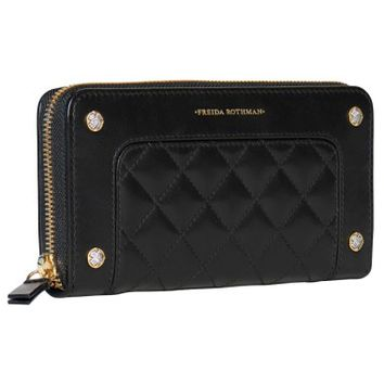 Freida Rothman Quilted Leather Zip Around Wallet | Nordstrom