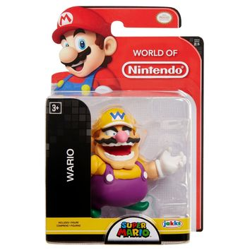 "Wario 2.5"" Mini Figure World of Nintendo NEW Super Mario"