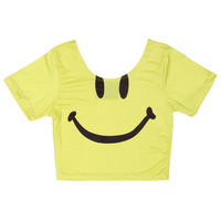 SMILE NOW CRY LATER CROP TOP