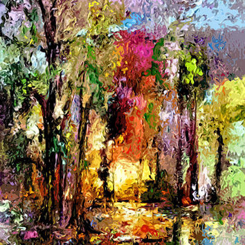 Abstract Landscape Wetland Nature Scene Painting by Ginette Callaway - Abstract Landscape Wetland Nature Scene Fine Art Prints and Posters for Sale