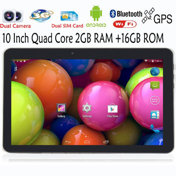10 Inch WiFi GPS FM Bluetooth 2G+16G Tablets/ uses Sim Card