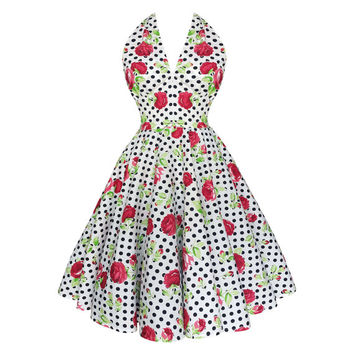 Summer Dress Rose Dress Sun Dress Plus Size Dress Floral Dress Polka Dot Dress Prom Dress Swing Dress Pin Up Dress Bridesmaid Dress Party