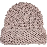 Light purple chunky knit beanie hat - hats - accessories - women