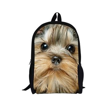Boys bookbag trendy Trendy Children School Bags for Girls Boys 3D Animals Pugs Pet s Cute Puppies French Bulldog Print Kids bag AT_51_3
