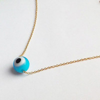 Blue Evil Eye Necklace / Evil Eye Jewelry / Amulet / Gift for Friend / Turkish Nazar Necklace / Protection Jewelry / N120