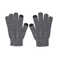 FOREVER 21 Knit Touchscreen Gloves Grey One