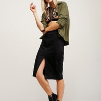 Free People Straight Up Denim Skirt