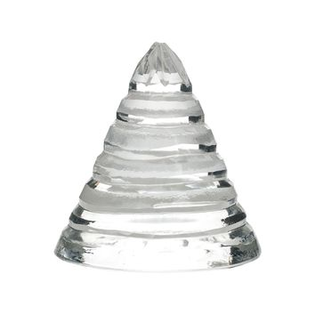 Small Sliced-Glass Cone Clear