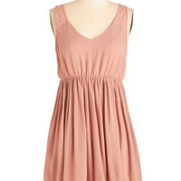 Mid-length Sleeveless A-line Content Out of Ten Dress