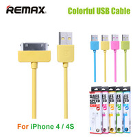 Original REMAX 30 pin USB Cable Wire for iPhone 4 4S Colorful Charging Cable for iPad 2 / 3 Fast Charge & Data Sync Cable Cord