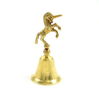 Vintage Brass Unicorn Bell