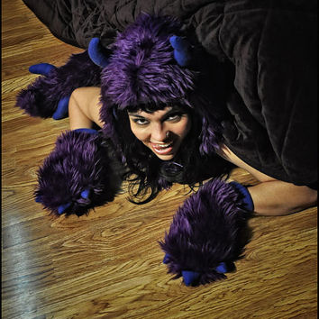 Awesome Furry Monster Under the Bed - Demon, Dragon, Dinosaur TAIL  - Cosplay - Kawaii - Burning Man - Halloween