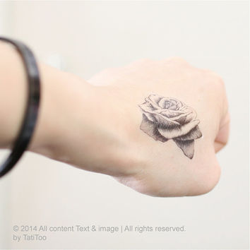 Rose temporary tattoo ,2 pcs - Temporary Tattoo T160a