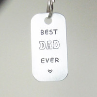 Best DAD Ever key ring keyring keychain key chain - Father's Day gift for Dad - Father birthday gift