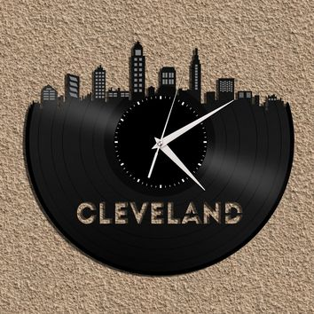 Cleveland Clock, Cleveland Skyline, Ohio State University, Cleveland Art, Functional Art Works, Cleveland Gifts, Ohio Gift Idea, Decorations