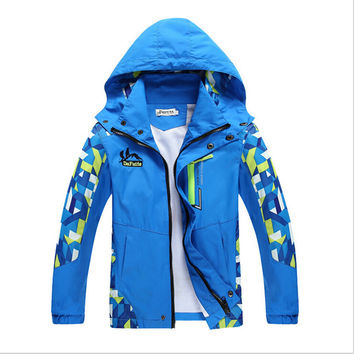 Size: 4T - 14/ Boy's Active Waterproof Jacket/ 2 Variations in 2 Colors Avaiable