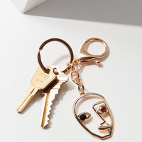 ZHUU Portrait Key Chain | Urban Outfitters