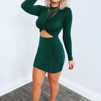 Love Bites Dress: Emerald Green