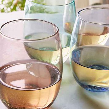Subtle Shade Stemless Wine Glass Set