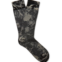 Marcoliani - Patterned Pima Cotton-Blend Socks