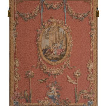 Medallion Serenade Rouge European Tapestry Wall Hanging