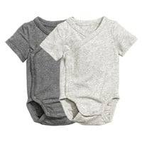 2-pack Pima Cotton Bodysuits - from H&M