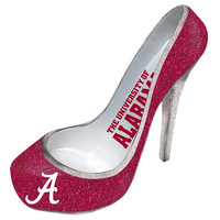 University of Alabama Glitter Shoe Wine Bottle Holder