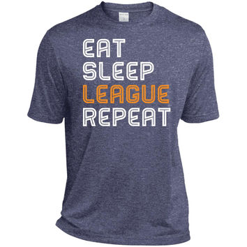 LOL Eat Sleep League Repeat gaming T shirt 2016-01  ST360 Sport-Tek Heather Dri-Fit Moisture-Wicking T-Shirt