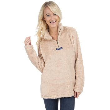 Linden Sherpa Pullover in Sand Brown by Lauren James - FINAL SALE