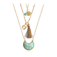 Gold Layering Hippie Boho Necklace