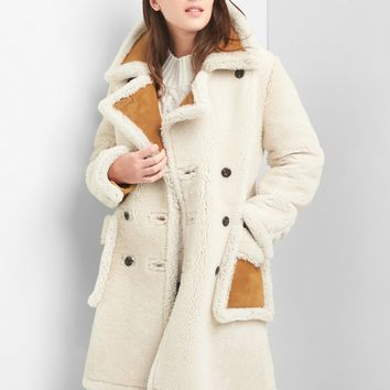 Shearling suede coat | Gap