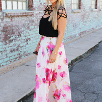 Love Me Floral Maxi Skirt