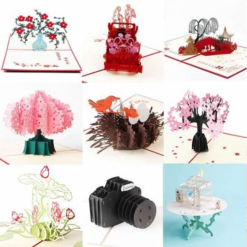 3D Luxury Handmade Pop Up Christmas Wedding Birthday Invitations Greeting Card